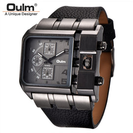Oulm Big Size Square Dial Quartz Watch