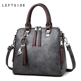LEFTSIDE Fashion Woman Handbag Tassel Cat Totes