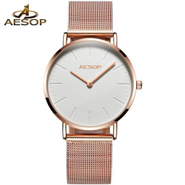 Gold Milanese steel Stylish Quartz Women Watch - RHIZMALL.PK Online Shopping Store.