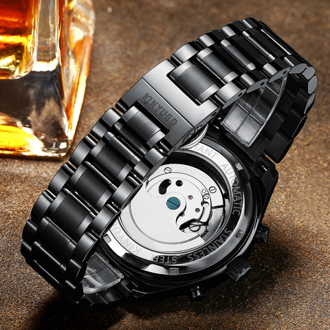 KINYUED Self-Wind Mechanical Watch - RHIZMALL.PK Online Shopping Store.