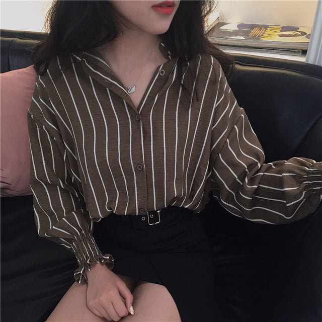 Autumn Spring Vintage Shirts Women - RHIZMALL.PK Online Shopping Store.