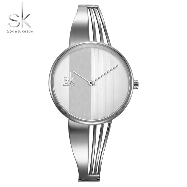 Shengke Fashion Gold-plated Women Watch - RHIZMALL.PK Online Shopping Store.