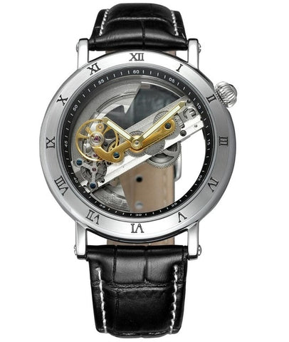 Automatic Skeleton Luxury Transparent  Dial Watch - RHIZMALL.PK Online Shopping Store.