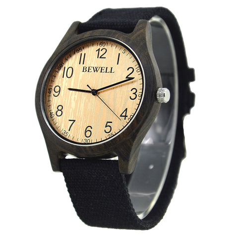 BEWELL Famous Bamboo Clock for Men - RHIZMALL.PK Online Shopping Store.