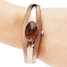 Fashion Rose Gold Bracelet Watch Women Watch - RHIZMALL.PK Online Shopping Store.