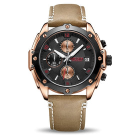 MEGIR Brown Relogio Chronograph Watch - RHIZMALL.PK Online Shopping Store.