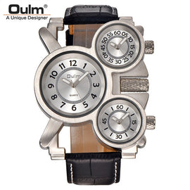 OULM  3 Time Zone Japan Vintage Watch