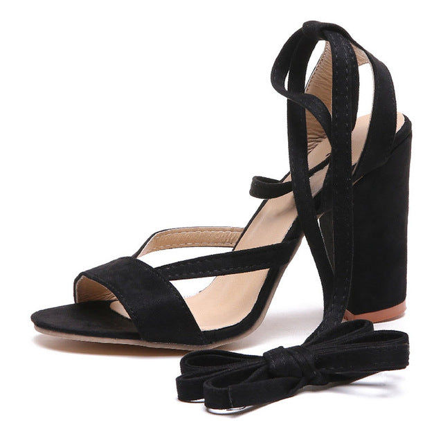 Summer Ankle Strap High Heeled Sandals - RHIZMALL.PK Online Shopping Store.