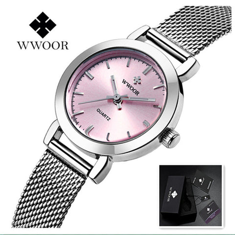 WWOOR Women Stainless Steel Dress Watch - RHIZMALL.PK Online Shopping Store.