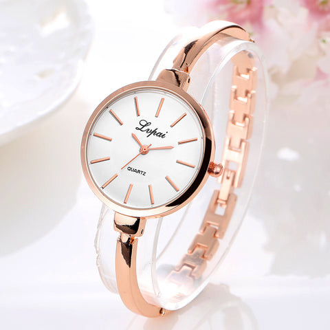 Luxury Rose Gold Casual Bracelet Watch - RHIZMALL.PK Online Shopping Store.