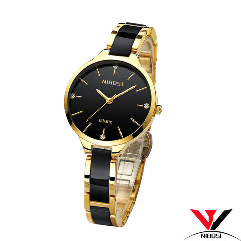 NIBOSI Relogio Feminino Waterproof  Brand Luxury Watch - RHIZMALL.PK Online Shopping Store.
