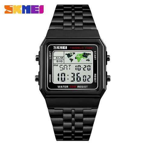 SKMEI Men Sports Count Down Waterproof Watch - RHIZMALL.PK Online Shopping Store.