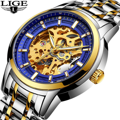 LIGE Men's Automatic Mechanical Watch