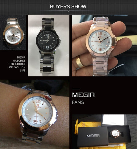 MEGIR Relogio Feminino Lovers Quartz Wrist Watch - RHIZMALL.PK Online Shopping Store.