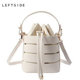 LEFTSIDE Drawstring Bucket Bag For Women - RHIZMALL.PK Online Shopping Store.