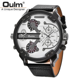 Oulm Big Size Multiple Time Zone Watch