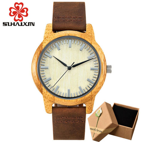 SIHAIXIN Bamboo Wooden Watchfor Men - RHIZMALL.PK Online Shopping Store.