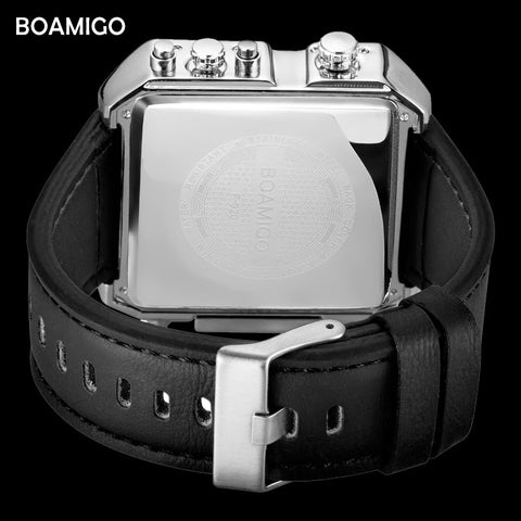 BOAMIGO Brand 3 Time Zone Big Dial Fashion Watch - RHIZMALL.PK Online Shopping Store.