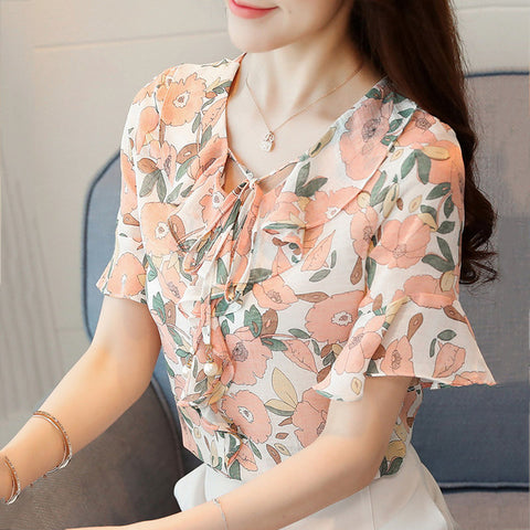 2018 Summer Chiffon Blouses Women Tops - RHIZMALL.PK Online Shopping Store.