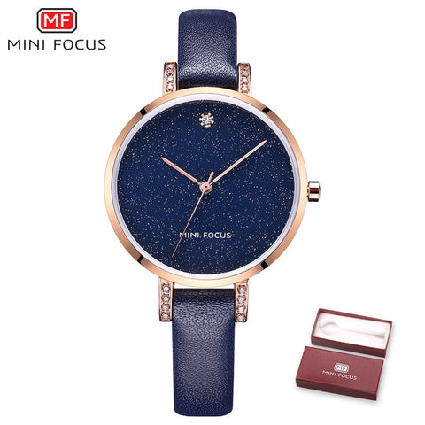 Bracelet Starry Sky Girl Clock Blue Quartz Wrist Watch - RHIZMALL.PK Online Shopping Store.