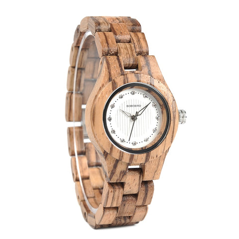 BOBO BIRD Women Wooden Gems Imitate Watch - RHIZMALL.PK Online Shopping Store.