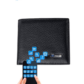 Genuine Leather Anti Lost Intelligent Bluetooth Wallet - RHIZMALL.PK Online Shopping Store.