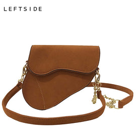 LEFTSIDE Scrub Leather Handbag For Women - RHIZMALL.PK Online Shopping Store.