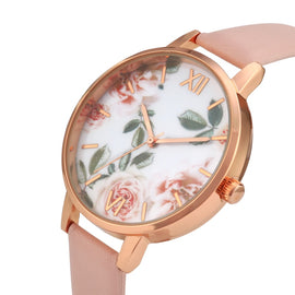 Rose Gold Case Lady Watch For Girls - RHIZMALL.PK Online Shopping Store.