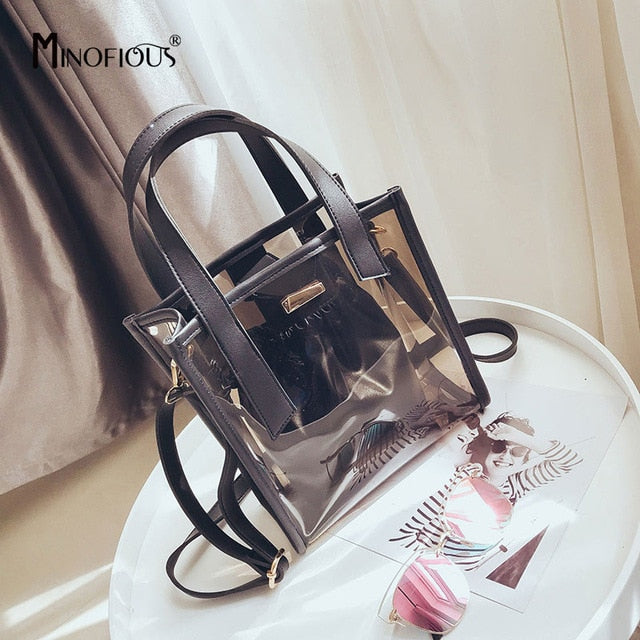Transparent PVC Candy Color Handbag - RHIZMALL.PK Online Shopping Store.