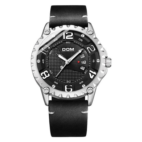 DOM Relogio Masculino Leather Watch - RHIZMALL.PK Online Shopping Store.
