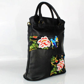 New Women National Retro Birds Flowers Embroidery All-matched handbag - RHIZMALL.PK Online Shopping Store.