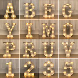 Party LED Night Light Letter Lamp Bedroom Club Bar - RHIZMALL.PK Online Shopping Store.