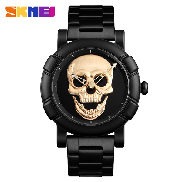 SKMEI Fashion Skull Quartz Watch Men - RHIZMALL.PK Online Shopping Store.