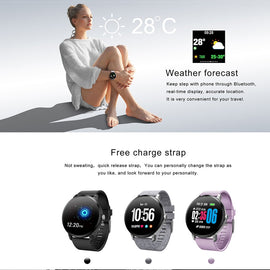LEMFO Smartwatch Tempered Glass Screen Heart Rate Monitoring Weather Forecast Muti-sport Modes - RHIZMALL.PK Online Shopping Store.