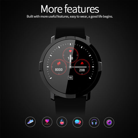 LEMFO Pedometer Heart Rate Blood Pressure Monitor Smartwatch with Waterproof mode - RHIZMALL.PK Online Shopping Store.