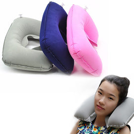 U Shaped Travel Neck Car Air Cushion - RHIZMALL.PK Online Shopping Store.