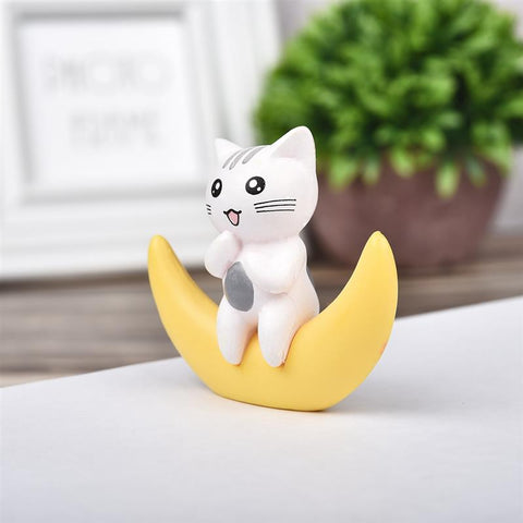 Moon Cat Figurines Doll House Bonsai Decor - RHIZMALL.PK Online Shopping Store.