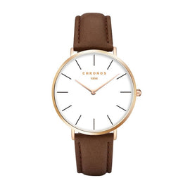 Chronos Leather Brand Luxury Watch - RHIZMALL.PK Online Shopping Store.