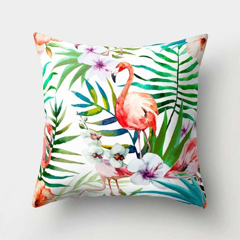 Tropical Leaf Cushion Cover Flower Sofa Decorative Pillow - RHIZMALL.PK Online Shopping Store.