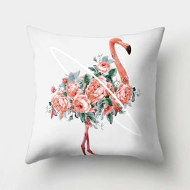 Tropical Leaf Cushion Cover Flower Sofa Decorative Pillow