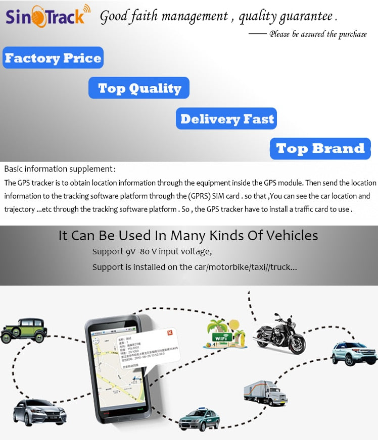 GPS Tracker vehicle tracking device online software