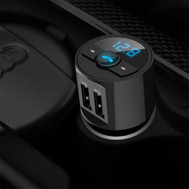 Bluetooth Car Kit MP3 Wireless  Dual USB Charger Handsfree support open voice - RHIZMALL.PK Online Shopping Store.