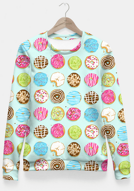 Sweet donuts Fitted Waist Sweater Women - RHIZMALL.PK Online Shopping Store.
