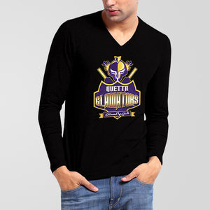 Quetta Gladiators PSL V-Neck Full Sleeves T-Shirt - RHIZMALL.PK Online Shopping Store.