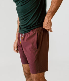 Crimson Plain Shorts - RHIZMALL.PK Online Shopping Store.