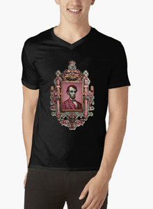 Abraham Lincoln Portrait V-Neck T-shirt - RHIZMALL.PK Online Shopping Store.