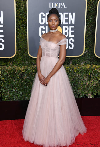 kiki layne red carpet golden globes 2019