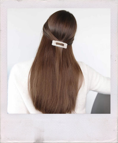 how to style hair barrette