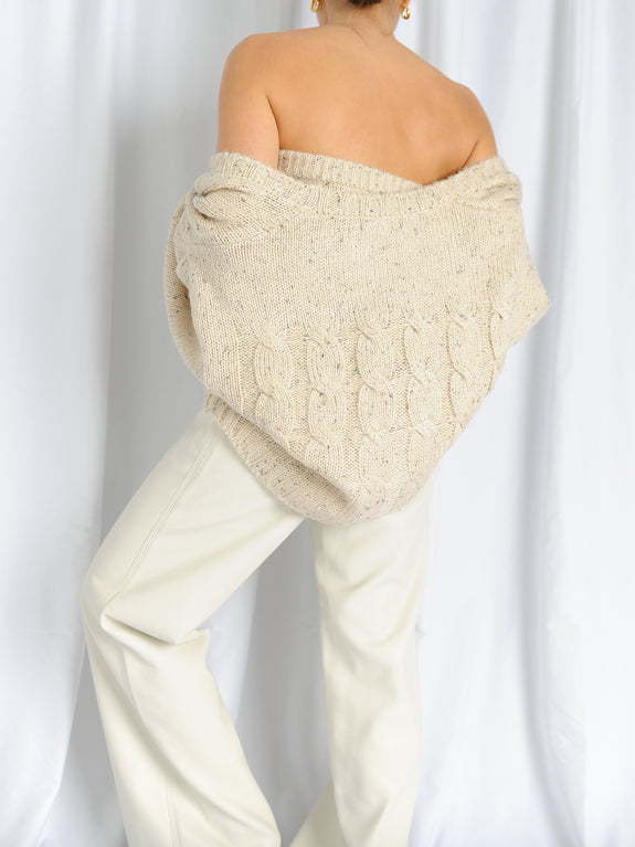 Beige Cardigan Set