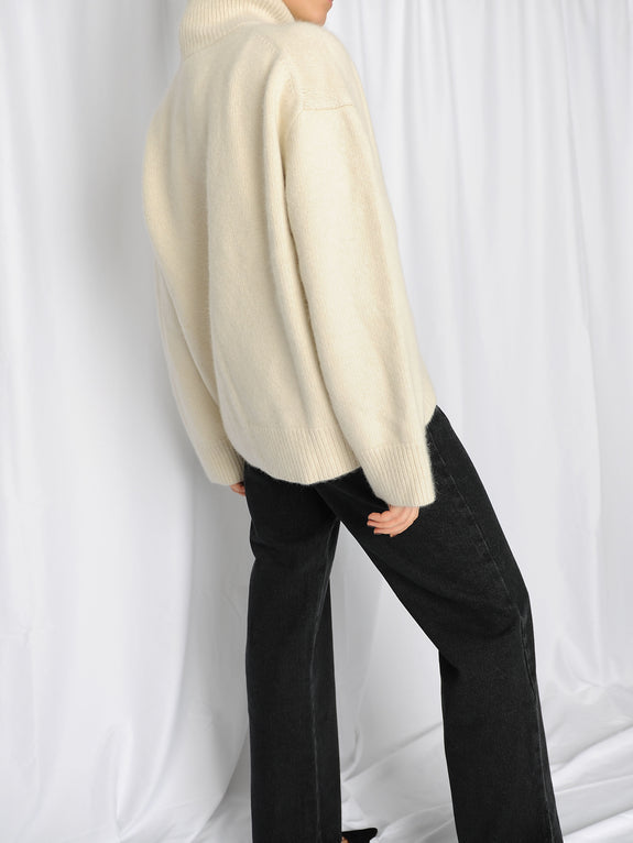 Ivory Soft Wool Turtleneck